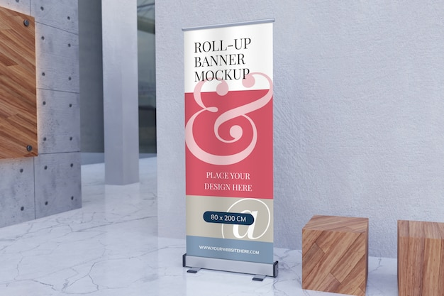 Roll-up staande banner mockup