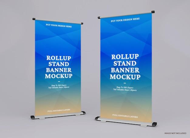 Rollup mockup ontwerp ontwerp weergave geïsoleerd