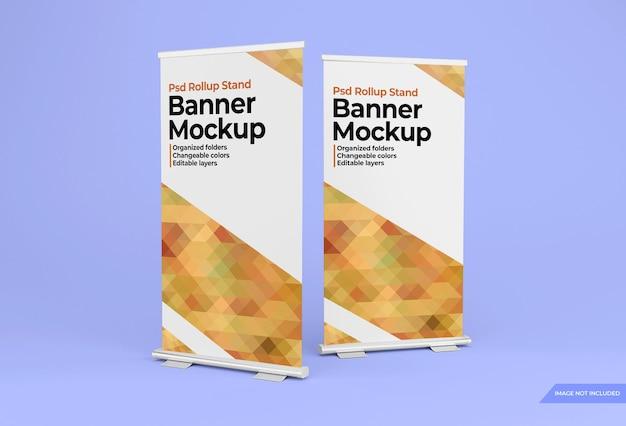Rollup staande banner ontwerp mockup