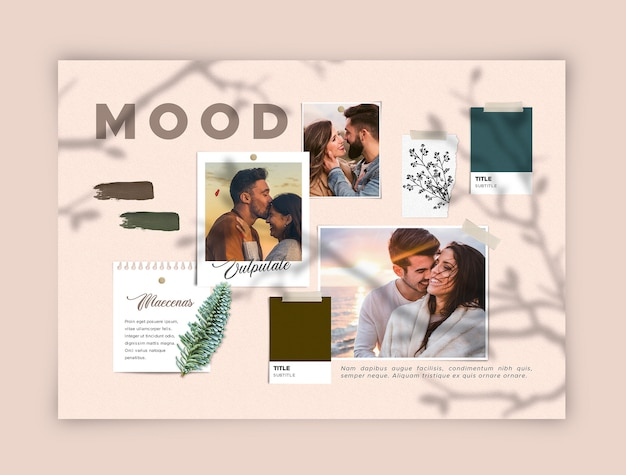 Romantisch jong koppel moodboard