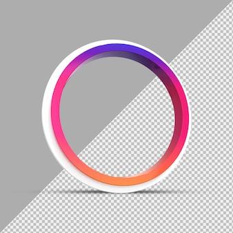 Rond profiel 3d-frame voor instagram livestreaming op sociale media