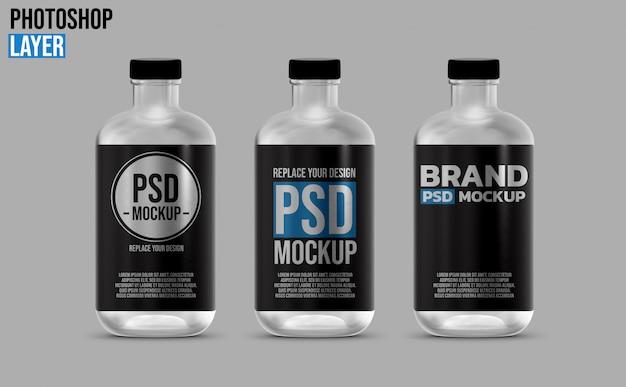 Ronde fles mockup-ontwerp