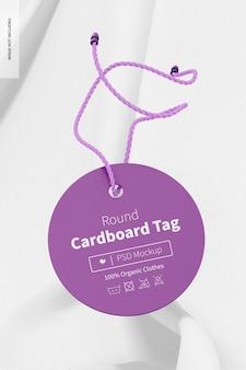 Ronde kartonnen tag-mockup, vooraanzicht