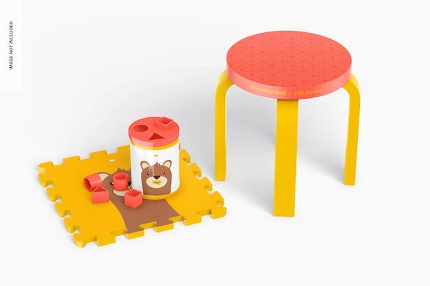 Ronde kinderbox met speelgoedmodel
