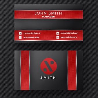 Rood en zwart adreskaartje