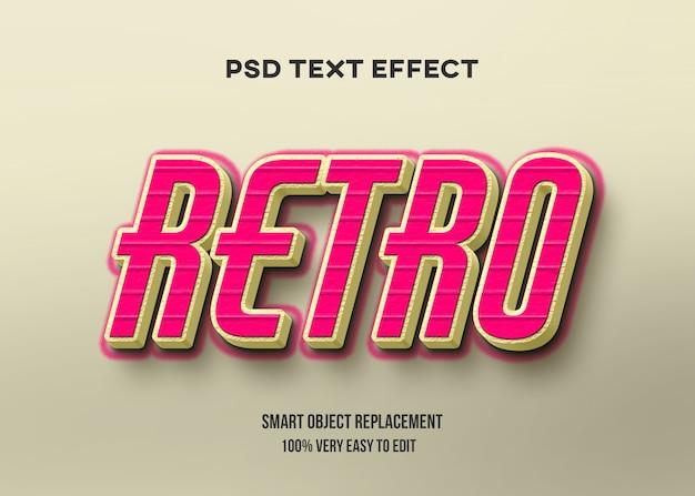 Rood geel retro teksteffect