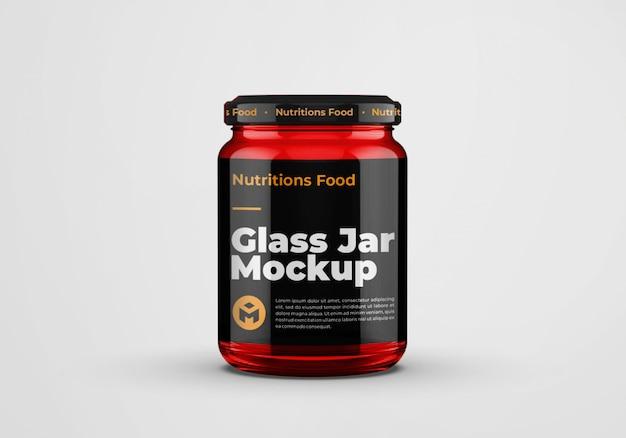 Rood glanzend glazen potmodelontwerp