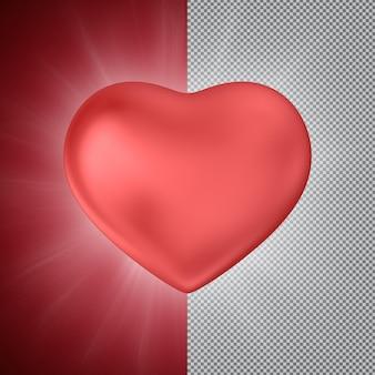 Rood hart 3d-rendering