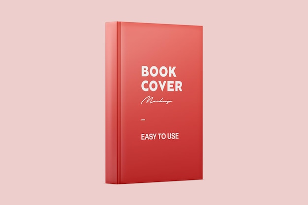 Rood permanent glanzend boekomslagmodel Premium Psd
