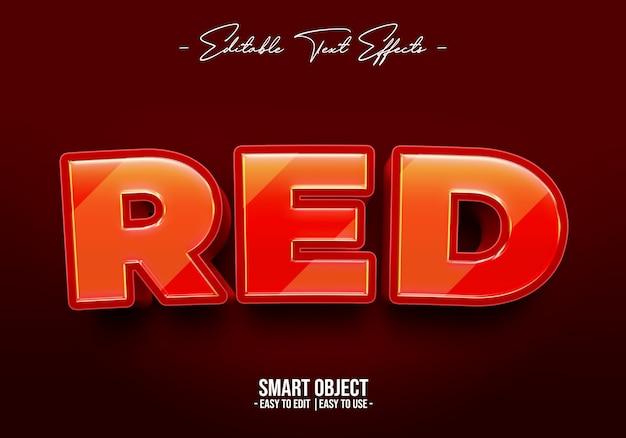 Rood-tekststijl-effect