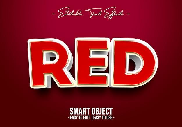 Rood tekststijleffect
