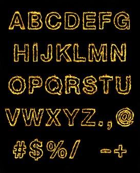 Rood vuur lettertype.