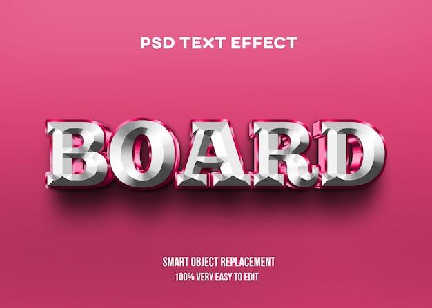 Rood wit glanzend teksteffect