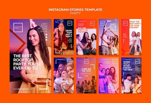 Rooftop party instagram verhalen sjabloon