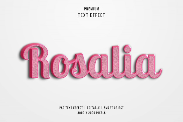 Rosalia 3d-tekststijleffect