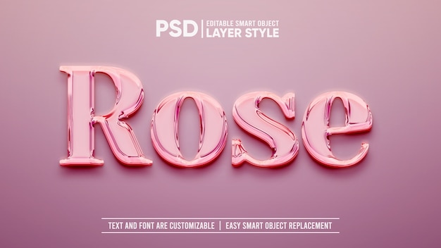 Rose gold luxury smart object layer-effect