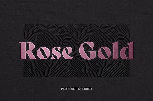 Rose gouden teksteffect sjabloon