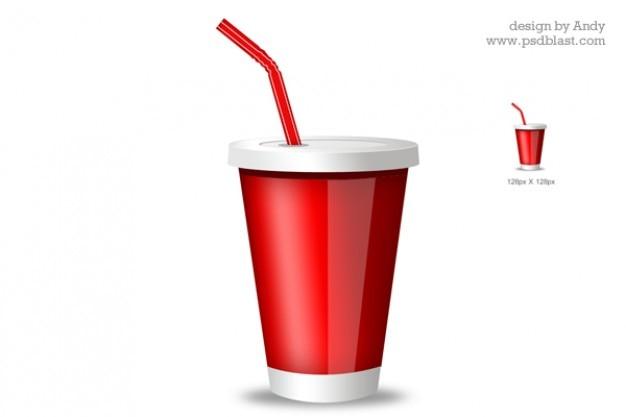 Rosso bere bicchiere icona
