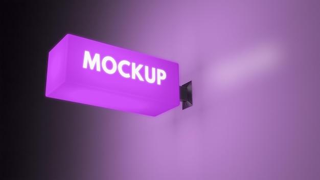 Rótulo de establecimiento de noche de color púrpura