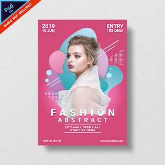 Roze flyer modeshow sjabloon