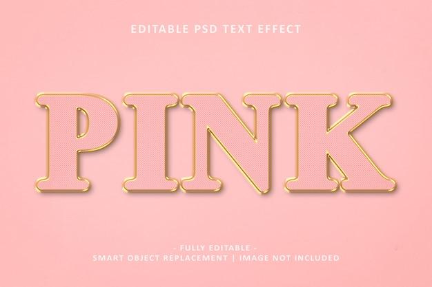 Roze gouden teksteffect