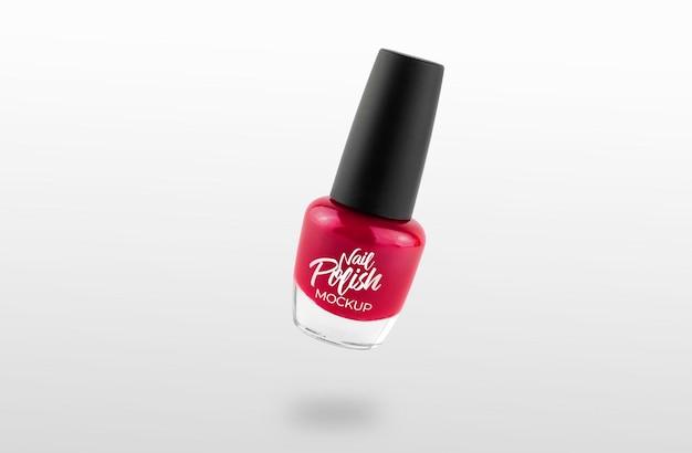 Roze nagellak mockup
