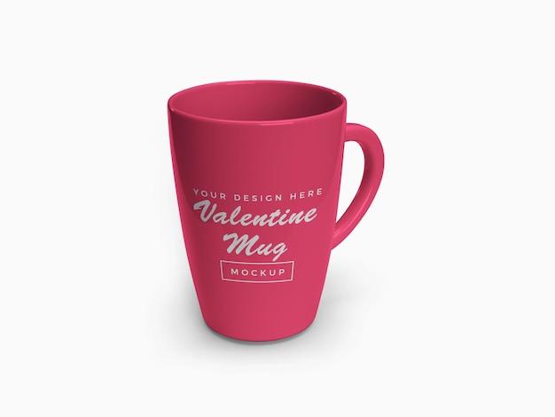 Roze valentine mok mockup ontwerp geïsoleerd