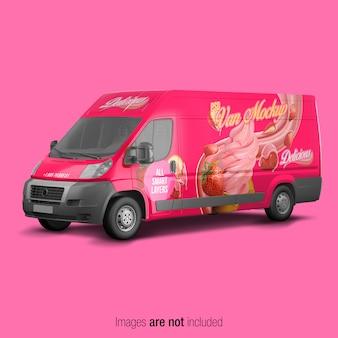 Roze van mockup