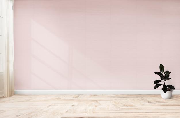 Rubbervijg in een roze ruimte