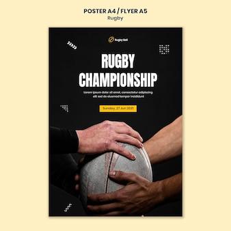 Rugby afdruksjabloon met foto