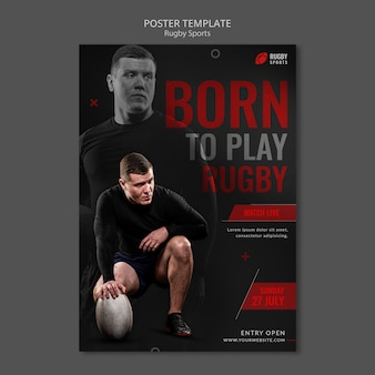 Rugby sport poster