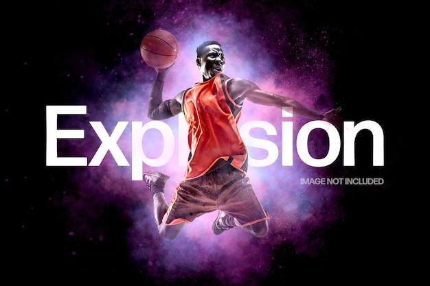 Ruimte explosie foto-effect