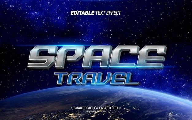 Ruimtevaart teksteffect