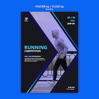 Running competitie poster sjabloon