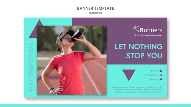 Running training sjabloon banner