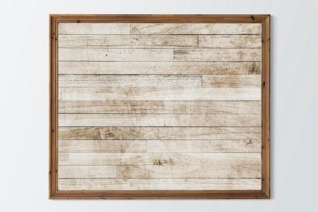 Rustiek bruin frame psd-mockup met ontwerpruimte