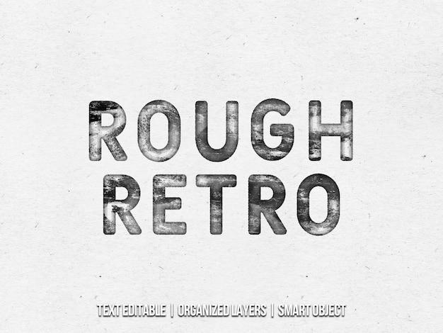 Ruw retro textuur teksteffect