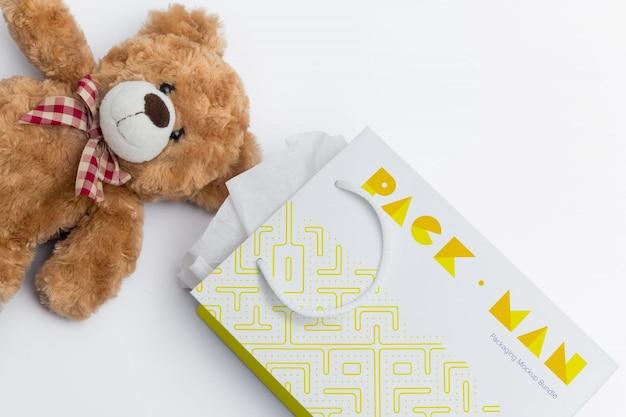 Sacchetto del regalo mock up di progettazione