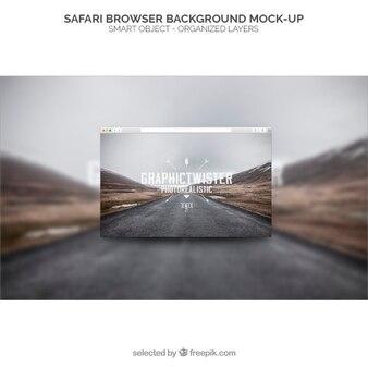 Safari fundo navegador mockup