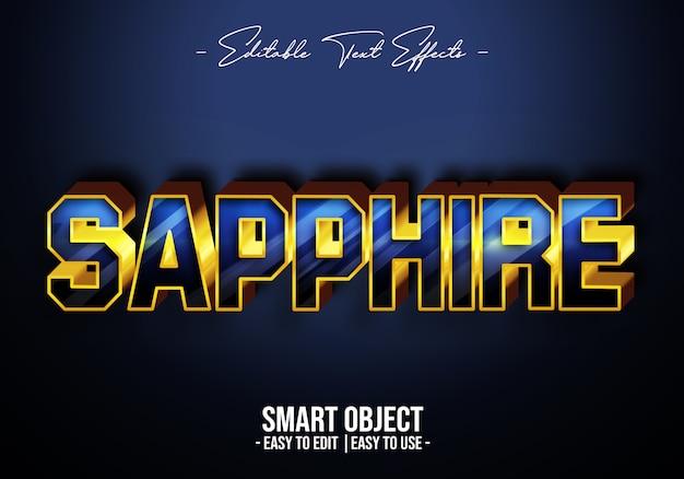 Saffier-tekst-stijl-effect