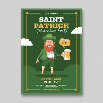 Saint patrick dag flyer template