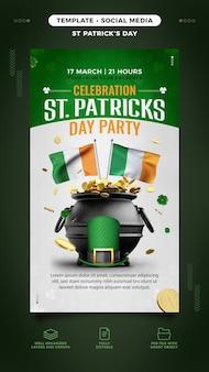 Saint patrick's day flyer-sjabloon voor instagram-verhaal