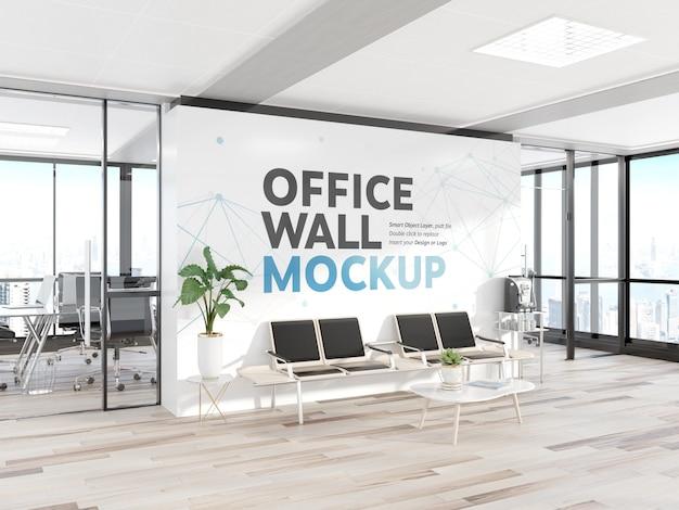 Sala de espera en maqueta de oficina moderna