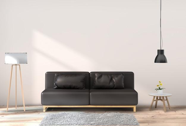 Sala de estar interior en estilo moderno.