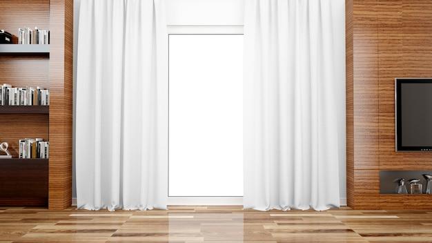 Sala de estar con ventana grande