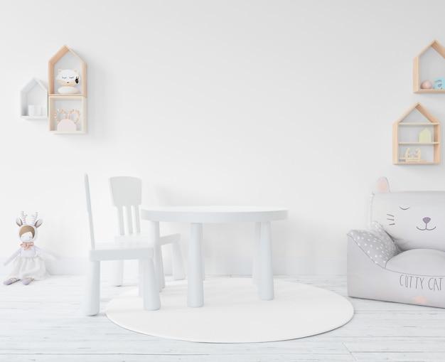 Sala giochi con giocattoli e mobili