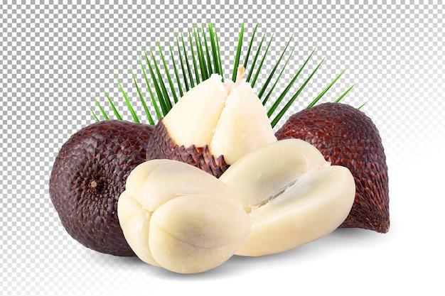 Salakfruit of slangfruit geïsoleerd