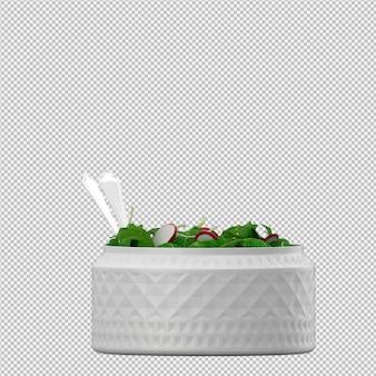 Salat isométrica 3d render