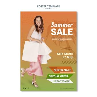 Saldi estivi per la progettazione di modelli di poster