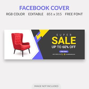 Sale facebook cover ontwerp